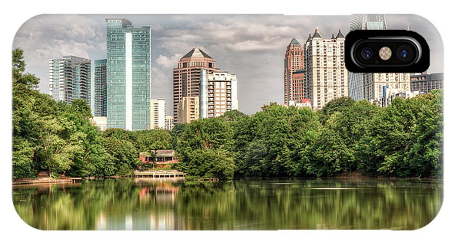 Landscape IPhone X / XS Case featuring the photograph Atlanta As Viewed From Piedmont Park by Glen Dykstra