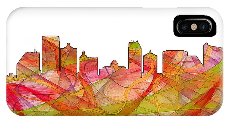 Atlantic City Nj Skyline IPhone X Case featuring the digital art Atlantic City Nj by Marlene Watson