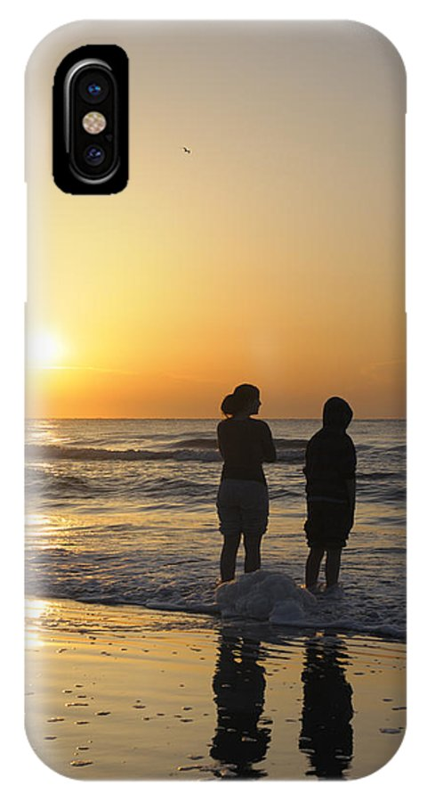 Kids IPhone X Case featuring the photograph Atlantic Ocean Sunrise - Vertical by Darrell Young
