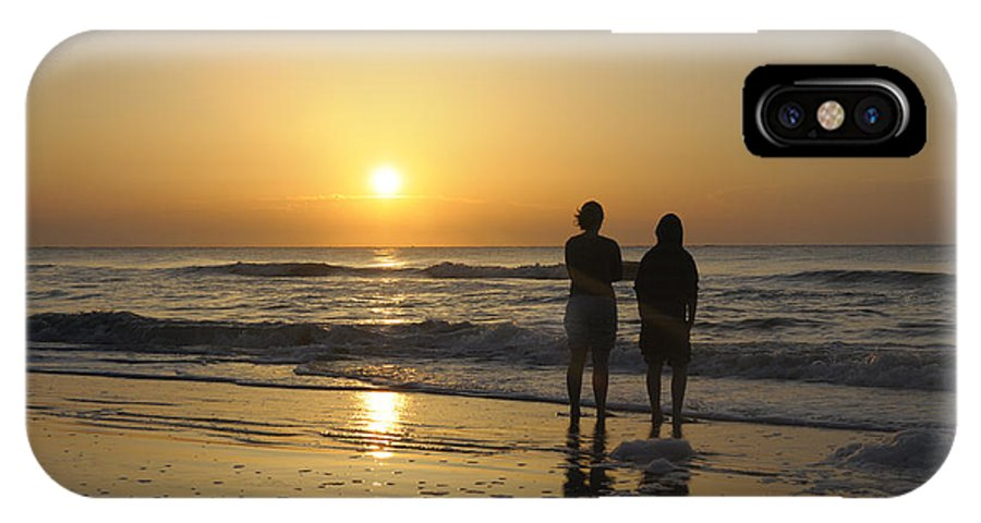 Kids IPhone X Case featuring the photograph Atlantic Ocean Sunrise by Darrell Young