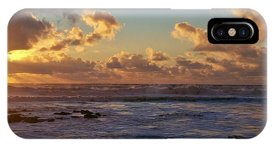 Sunset IPhone X Case featuring the photograph Atlantic Sunset by Richard Brookes