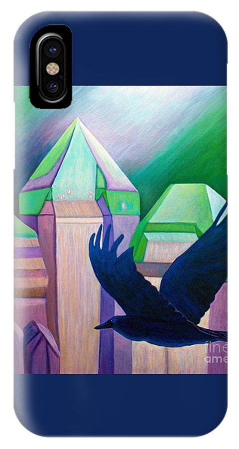 Crystals IPhone Case featuring the painting Atlantis by Brian Commerford