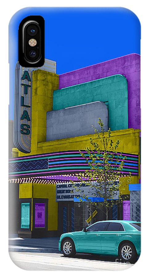 Atlas IPhone X Case featuring the photograph Atlas Theatre by Jost Houk