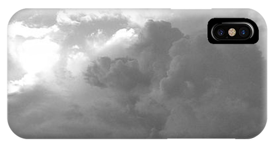 Black And White IPhone X Case featuring the photograph Atmospheric Barcode 19 7 2008 16 Version Bw by Donald Burroughs