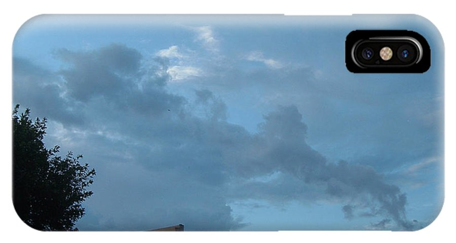 Sky IPhone X Case featuring the photograph Atmospheric Barcode 19 7 2008 18 Or Titan by Donald Burroughs