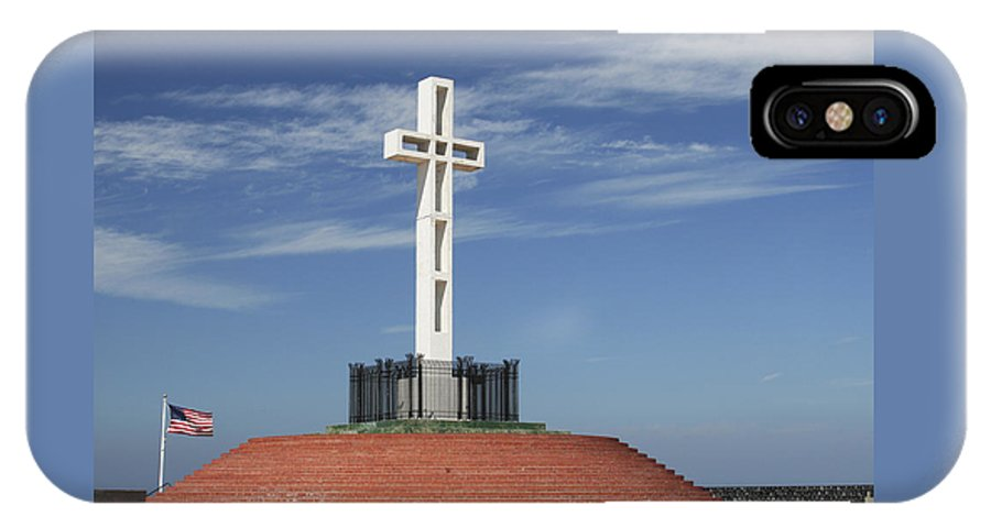 Mt Soledad IPhone X Case featuring the photograph Atop Mt Soledad by Margie Wildblood