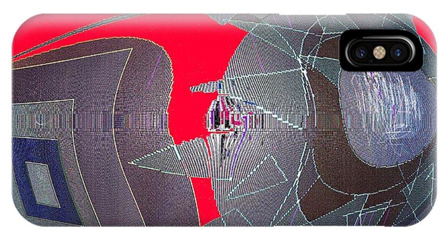 Digital IPhone Case featuring the digital art Attack by Ian MacDonald