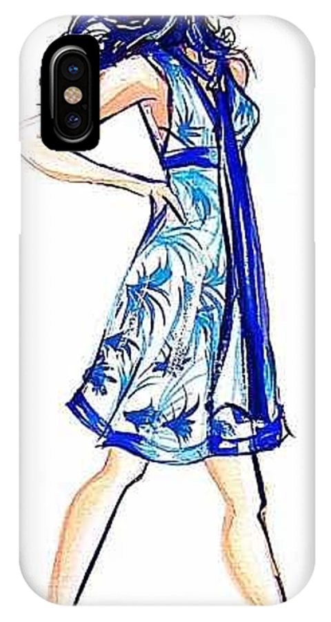 Girl With Attitude IPhone X Case featuring the painting Attitude by Laura Rispoli