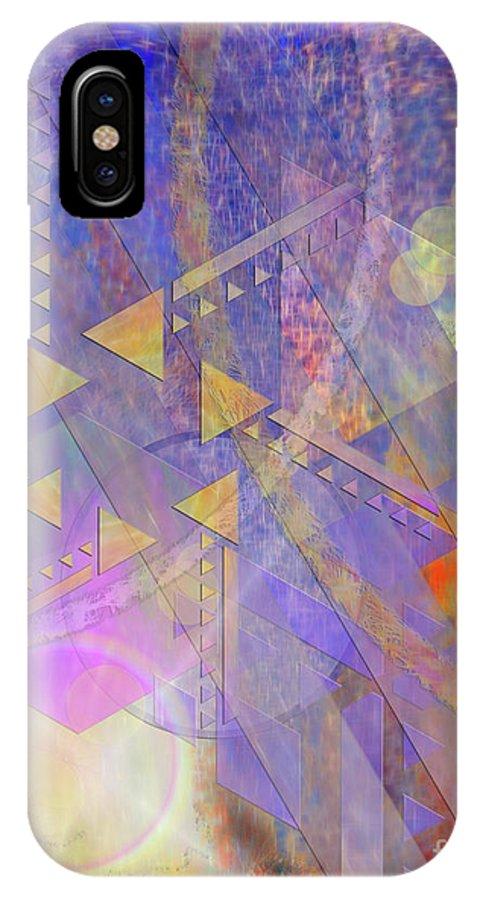 Aurora Aperture IPhone X / XS Case featuring the digital art Aurora Aperture by John Beck
