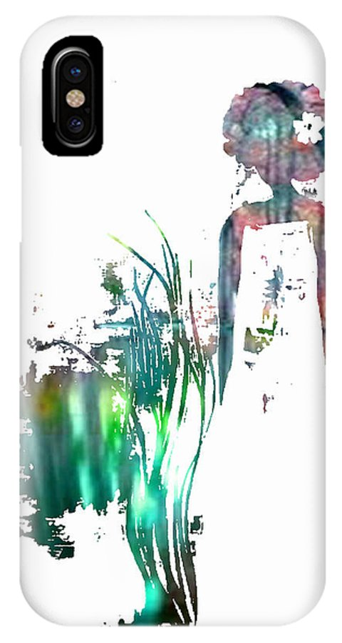 IPhone X Case featuring the painting Aurora Mist by Anitra Carter