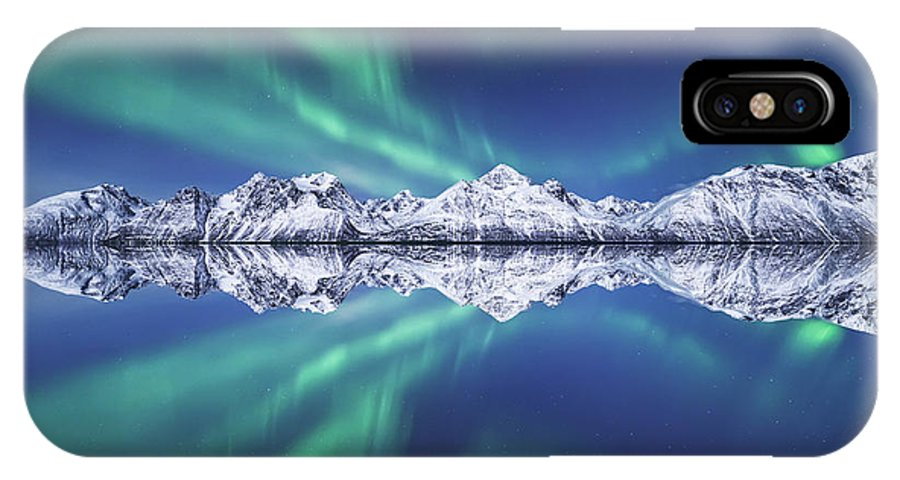 Aurora Borealis IPhone X Case featuring the photograph Aurora Square by Tor-Ivar Naess