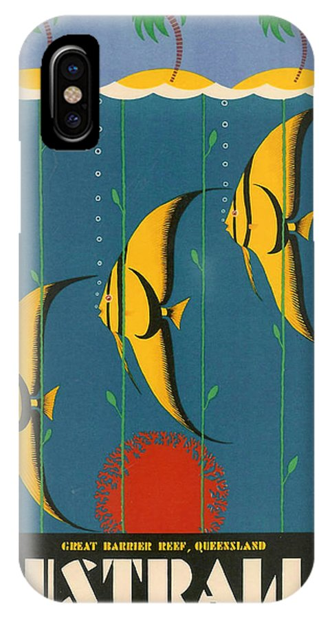 Australia IPhone X Case featuring the digital art Australia by Georgia Fowler