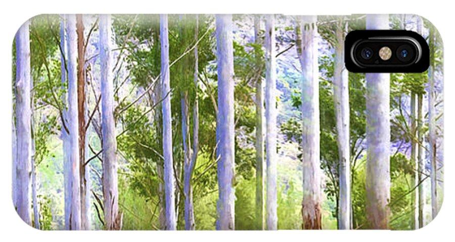 Australian Gum Trees IPhone X Case featuring the photograph Australian Gum Trees by Sheila Smart Fine Art Photography