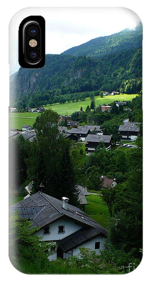 Austria IPhone X Case featuring the photograph Austrian Landscape by Carol Groenen