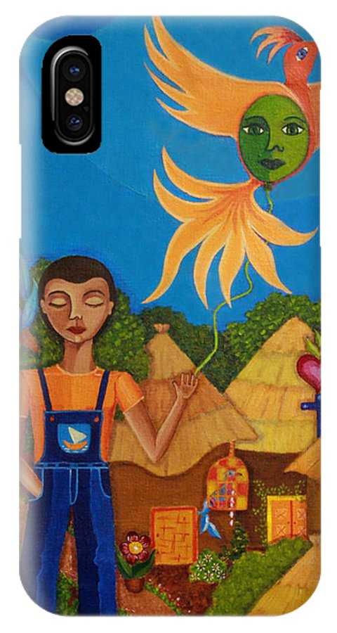 Autism IPhone X Case featuring the painting Autism - A Flight To... by Madalena Lobao-Tello