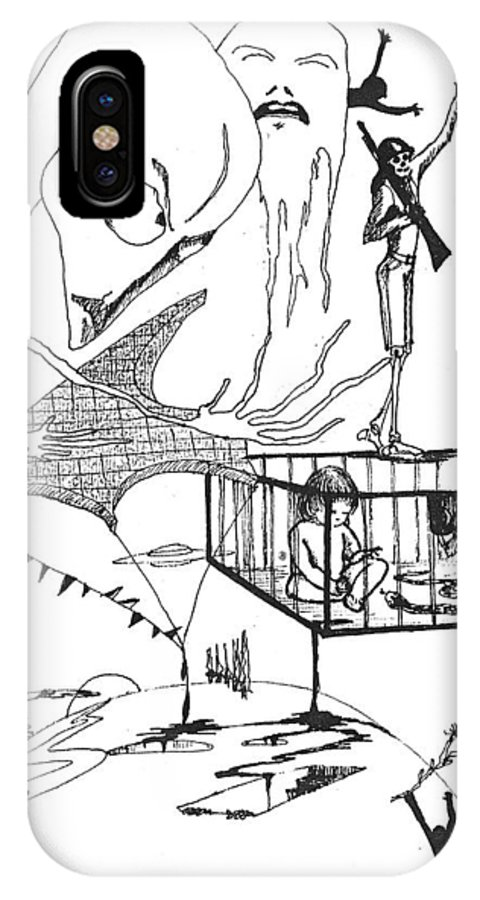 Drawing Pen Automatism IPhone Case featuring the drawing Automatism by Veronica Jackson