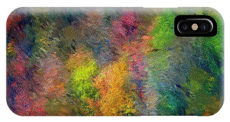 Landscape IPhone Case featuring the digital art Autum Hillside by David Lane