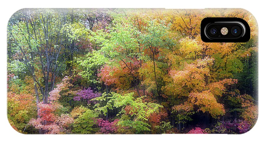 Autumn IPhone X Case featuring the photograph Autumn 2 - 16oct2016 by Jim Vance