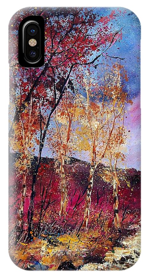 Landscape IPhone X Case featuring the painting Autumn 760808 by Pol Ledent