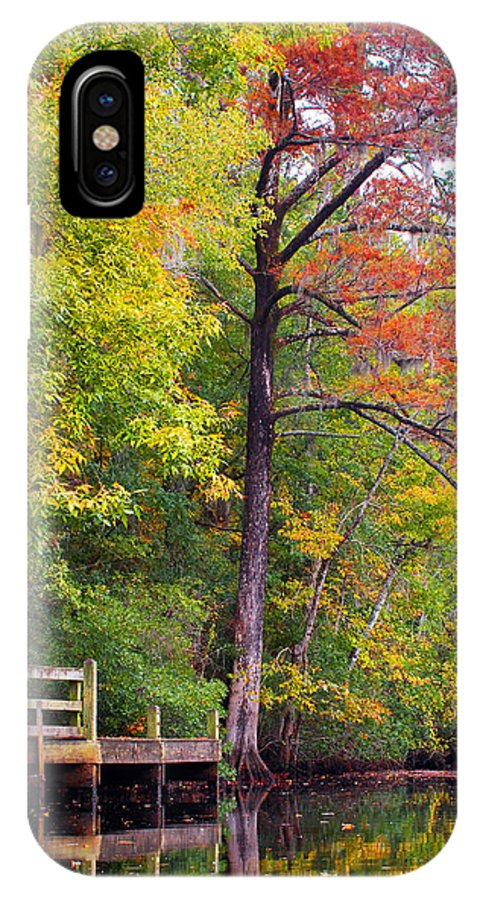 Fall IPhone X Case featuring the photograph Autumn Along Brices Creek by Bob Decker