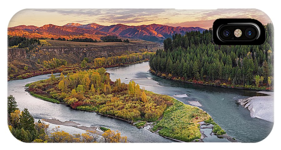 Idaho Scenics IPhone X / XS Case featuring the photograph Autumn Along The Snake River by Leland D Howard