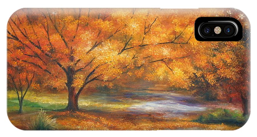 Fall IPhone Case featuring the painting Autumn by Ann Cockerill
