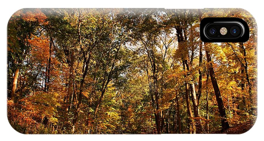 Scenery IPhone X Case featuring the photograph Autumn At Audubon by Sandy Keeton
