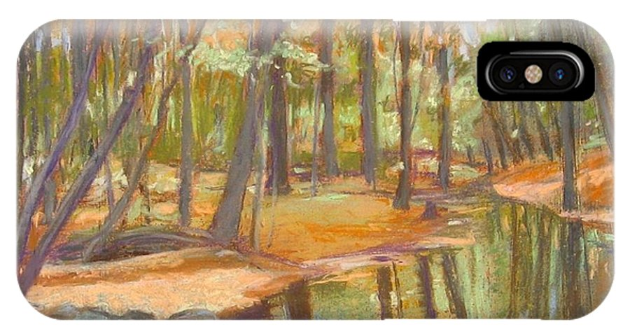 Mcgrath IPhone X Case featuring the painting autumn at Kenoza by Leslie Alfred McGrath