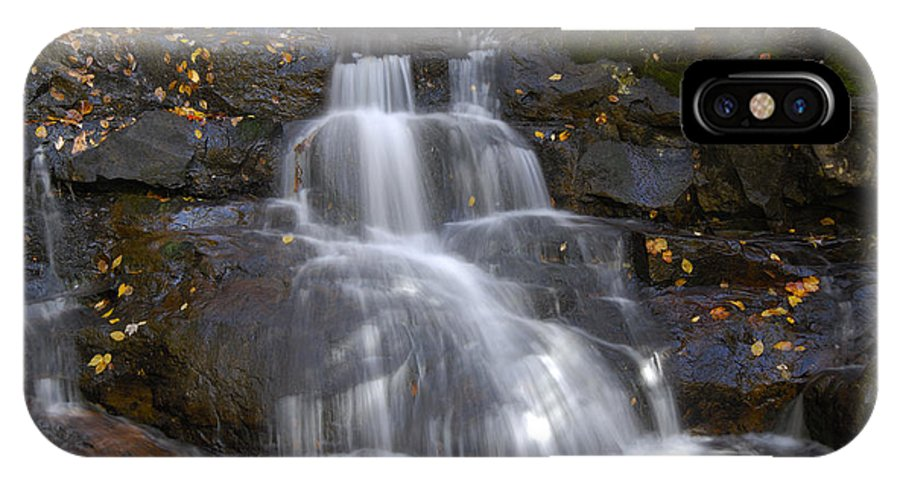 Laurel Falls IPhone X Case featuring the photograph Autumn At Laurel Falls by Darrell Young