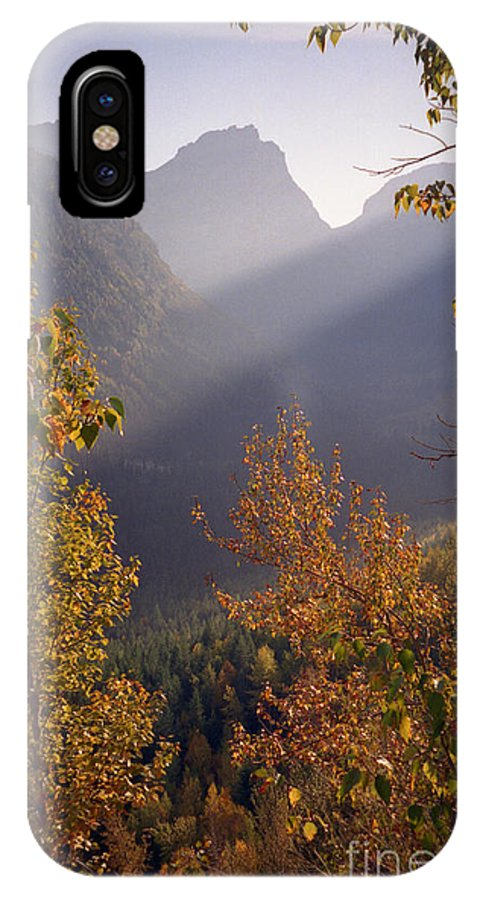 Mountains IPhone Case featuring the photograph Autumn At Logan Pass by Richard Rizzo