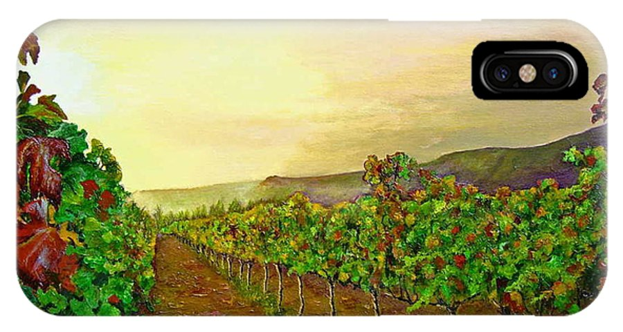 Vineyard IPhone Case featuring the painting Autumn At Steenberg by Michael Durst