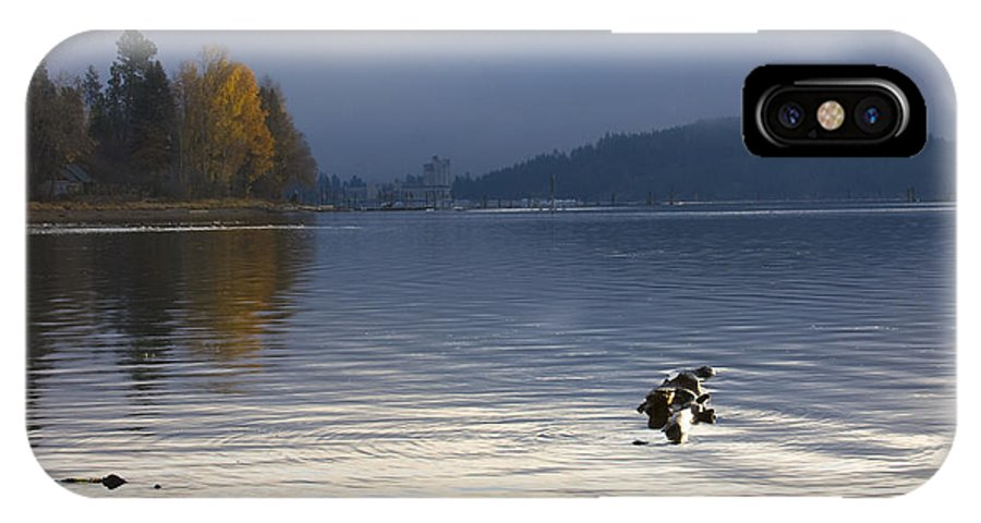 Lake Coeur D' Alene IPhone X Case featuring the photograph Autumn At The Lake by Idaho Scenic Images Linda Lantzy