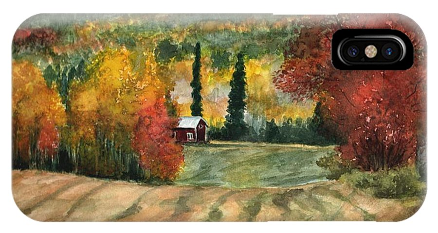 Autumn IPhone Case featuring the painting Autumn Blush by Mona Davis
