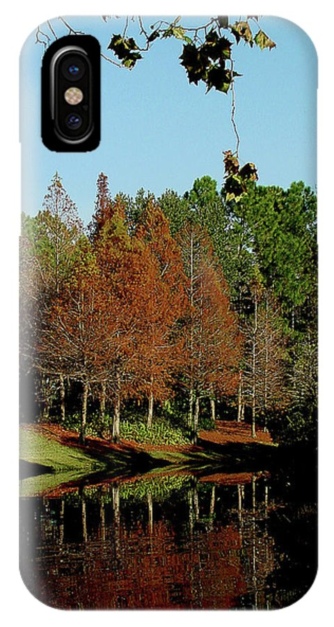 Autumn IPhone X Case featuring the photograph Autumn Color Reflected by Shirley Heyn
