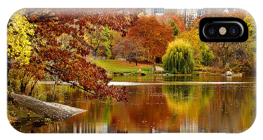 New York City IPhone X Case featuring the photograph Autumn Colors In Central Park New York City by Sabine Jacobs