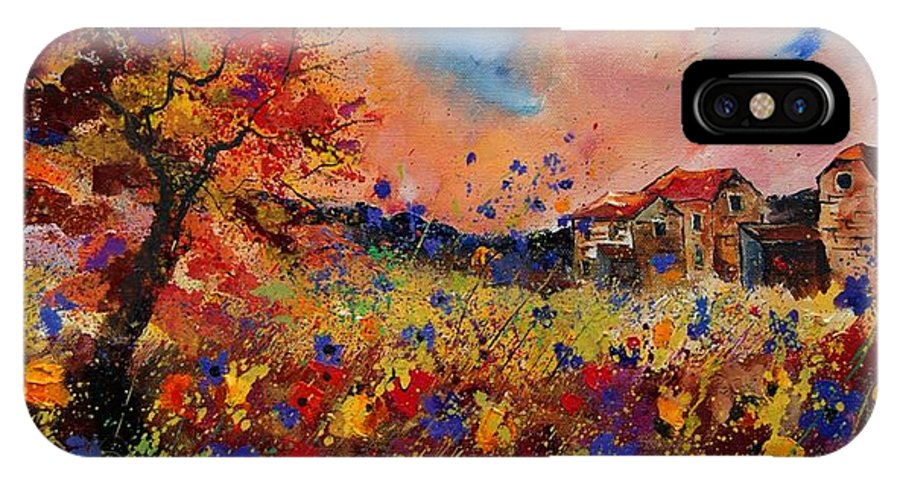Poppies IPhone X Case featuring the painting Autumn Colors by Pol Ledent