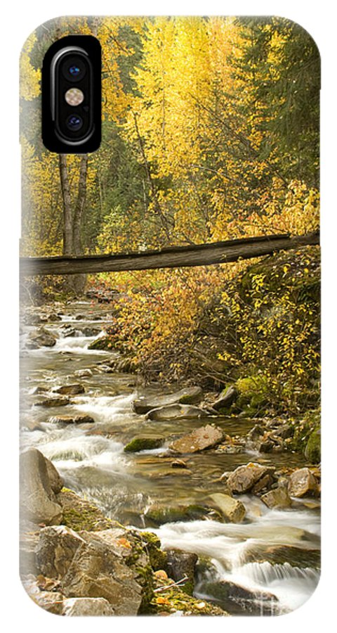 Cross IPhone X Case featuring the photograph Autumn Crossing by Idaho Scenic Images Linda Lantzy