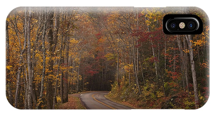 Smoky IPhone X / XS Case featuring the photograph Autumn Drive by Andrew Soundarajan