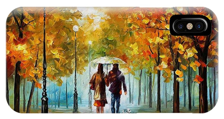 Afremov IPhone X Case featuring the painting Autumn Elegy by Leonid Afremov