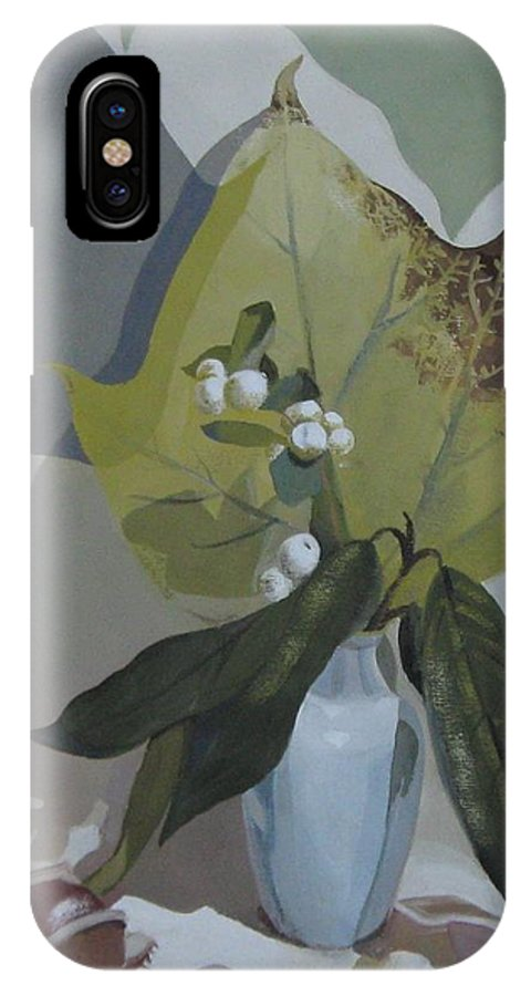 Still Life IPhone X Case featuring the painting Autumn by Elena Oleniuc