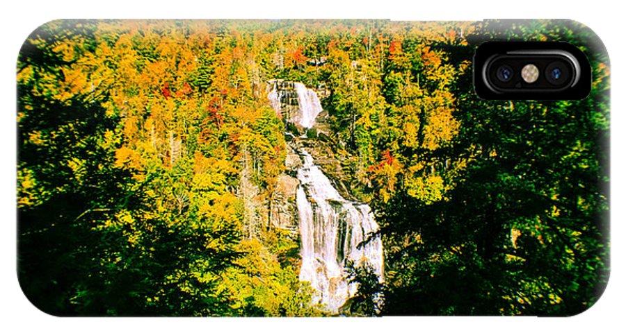 White Water Falls IPhone X Case featuring the photograph Autumn Falls by Tom Zukauskas