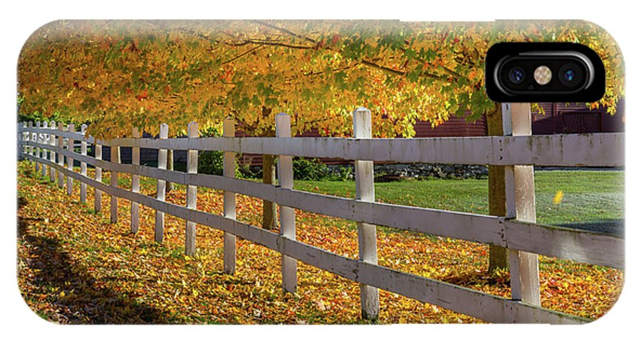 Fence IPhone X Case featuring the photograph Autumn Fence by Bill Wakeley