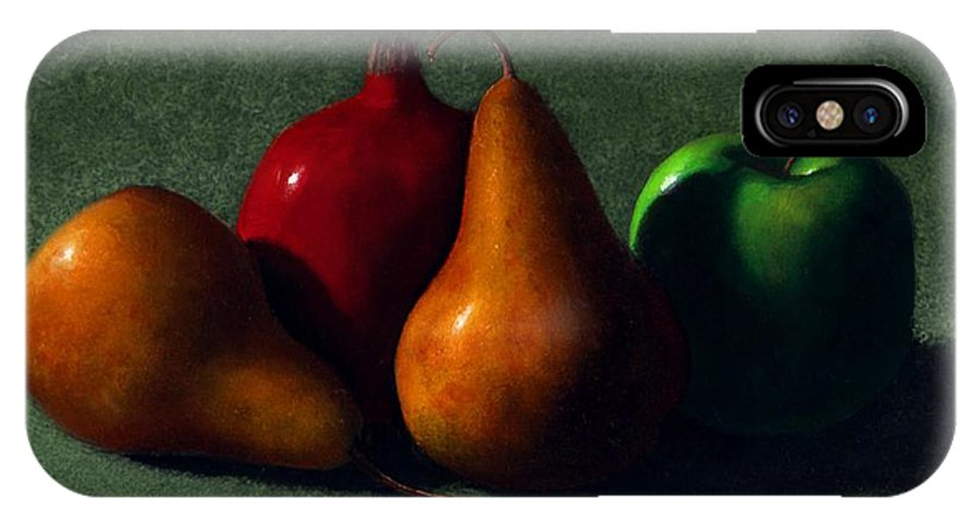 Still Life IPhone Case featuring the painting Autumn Fruit by Frank Wilson
