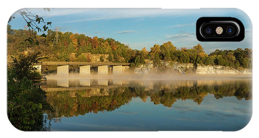 America IPhone X Case featuring the photograph Autumn Glow Lake Springfield by Jennifer White