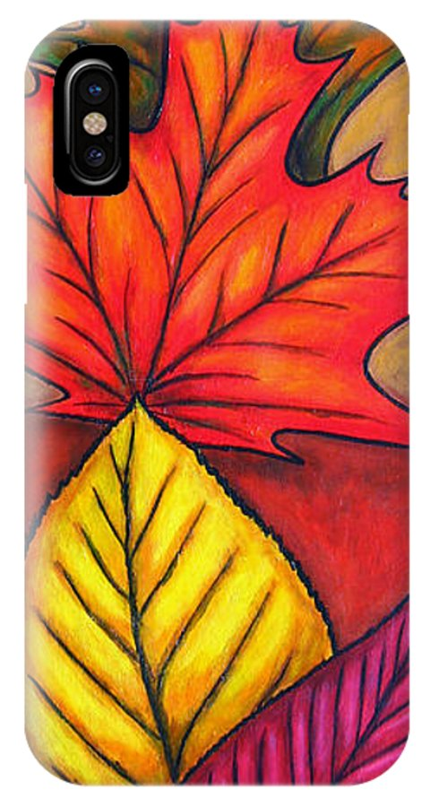 Autumn IPhone Case featuring the painting Autumn Glow by Lisa Lorenz