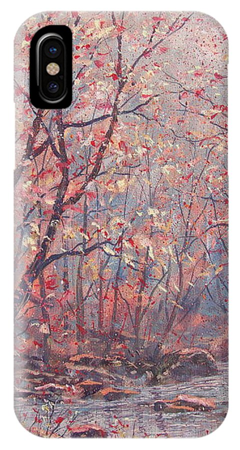 Landscape IPhone X Case featuring the painting Autumn Harmony. by Leonard Holland