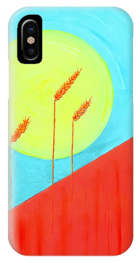 Landscape IPhone Case featuring the painting Autumn Harvest by J R Seymour
