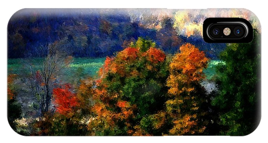 Digital Photograph IPhone X Case featuring the photograph Autumn Hedgerow by David Lane