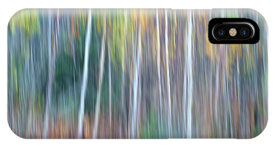 Forest Pastels Form An Autumn Impression IPhone X Case featuring the photograph Autumn Impression by Bill Morgenstern