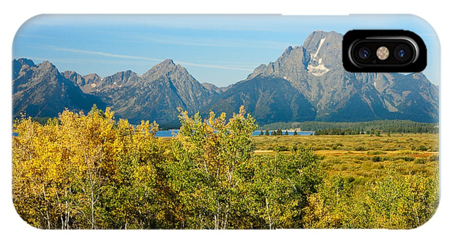 Fall IPhone X Case featuring the photograph Autumn In Grand Teton National Park by Ram Vasudev
